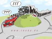 Mini Cooper, Alfa, Auto, Verkehr, Cartoon