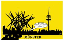 Windkraft, Ausbau, Münster,Skyline,Häger,Cartoon
