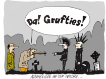 Friedhof, Allerheiligen, Halloween, Cartoon